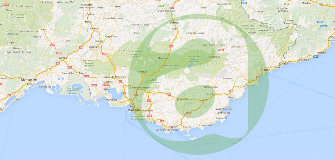 Agevar se déplace sur toute la région PACA, de Nice à Marseille en passant par Toulon, Draguignan, Fréjus, Cannes, Cagnes sur Mer