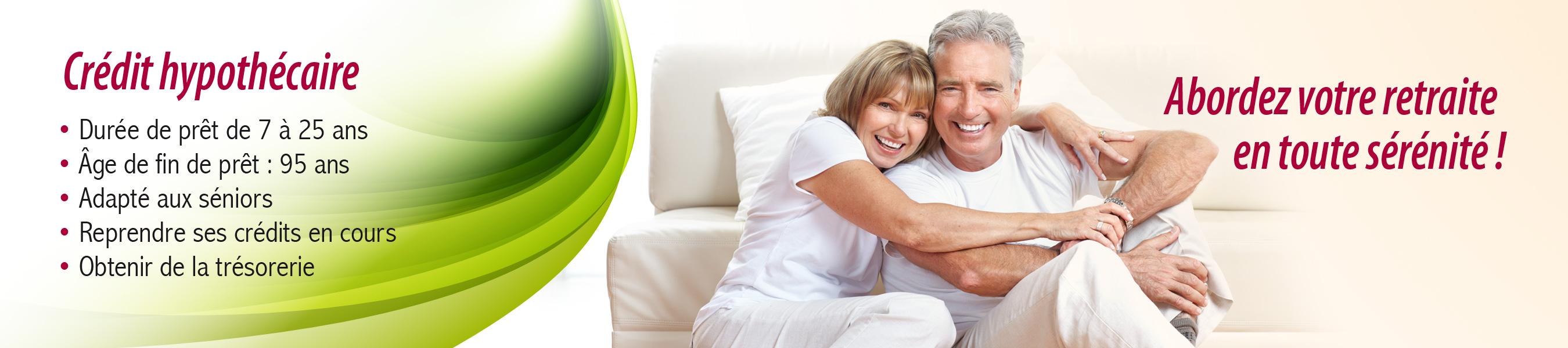 Solution spéciale séniors, le crédit hypothécaire vous permet d'aborder votre retraite en toute sérénité